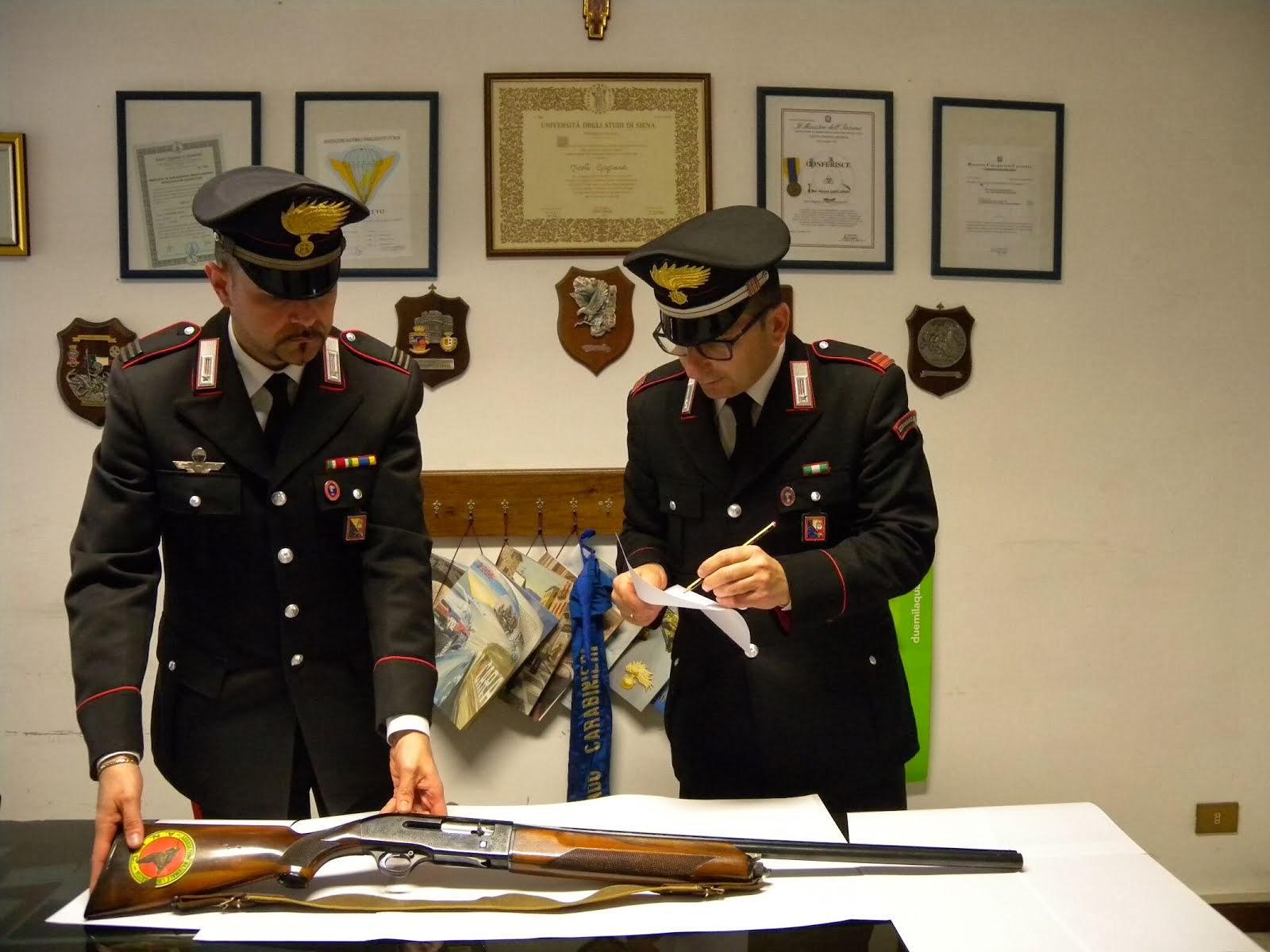 Armi seguestrate dai Carabinieri