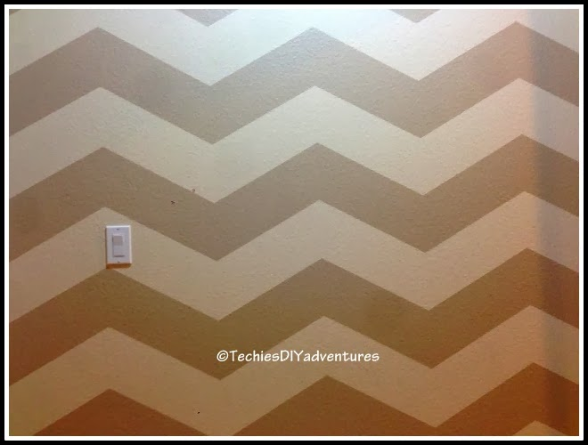 Chevron Pattern Painted Wall Techie's DIY Adventures Simple How To Paint A Chevron Pattern
