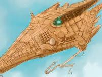 Dibujo de una nave espacial