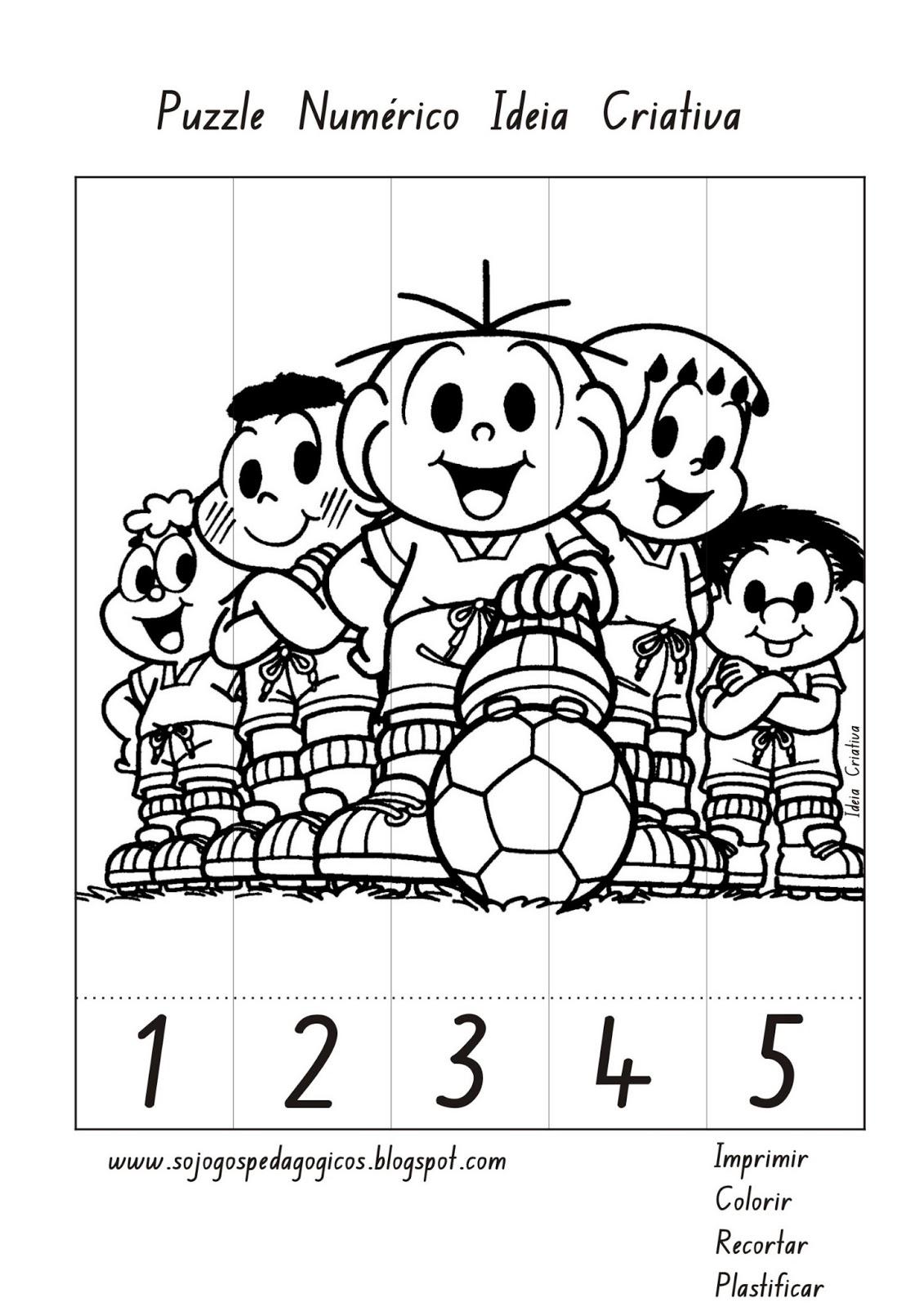 Puzzle Numérico Turma da Mônica