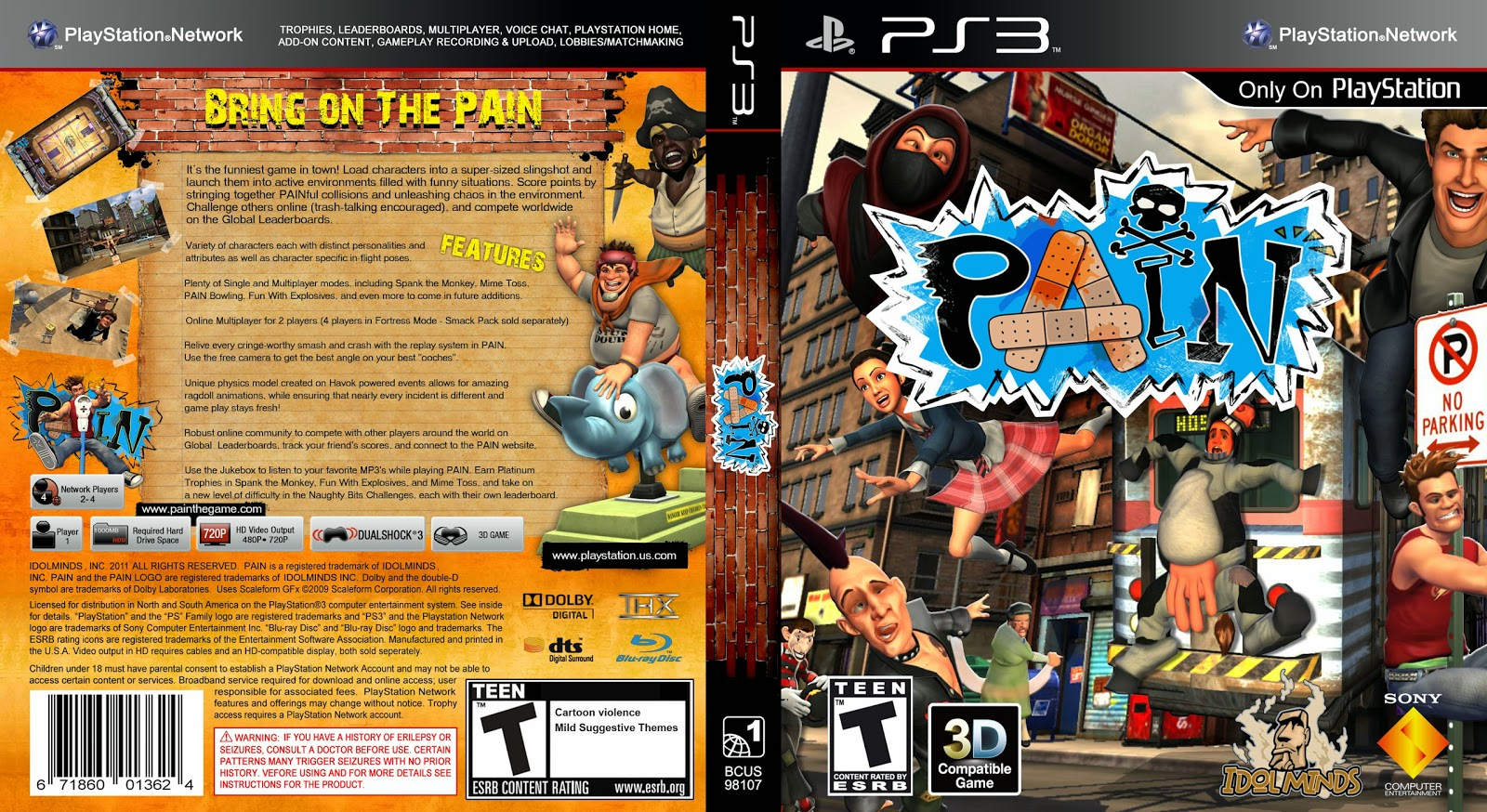 Capa Pain PS3