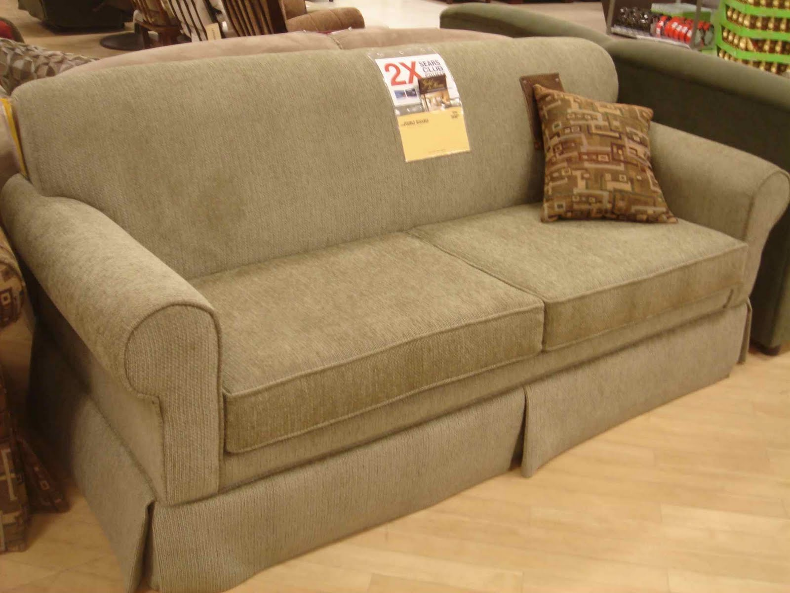 Sofa beds sears smileydotus for Sectional sleeper sofa sears