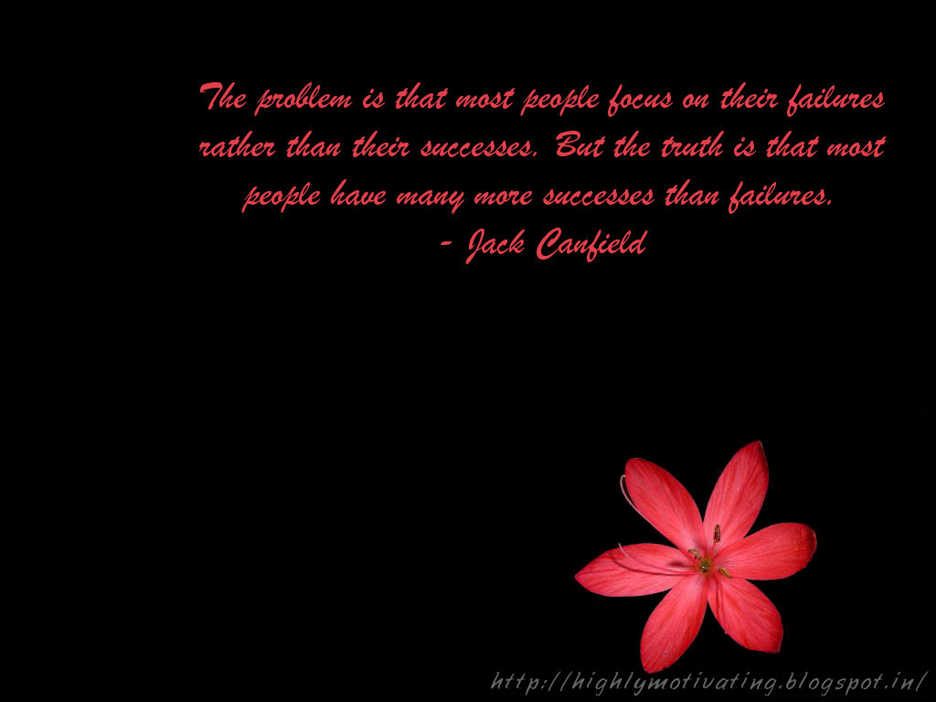 Wallpapers With Attitude Quotes Jack canfield success quote