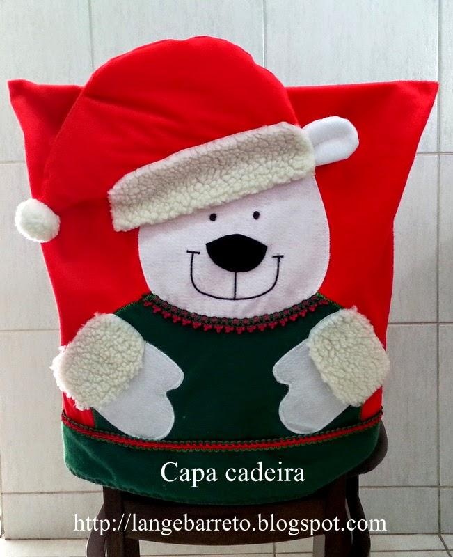 Capa para cadeira tema natalino