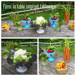 Farm to table inspired tablescape