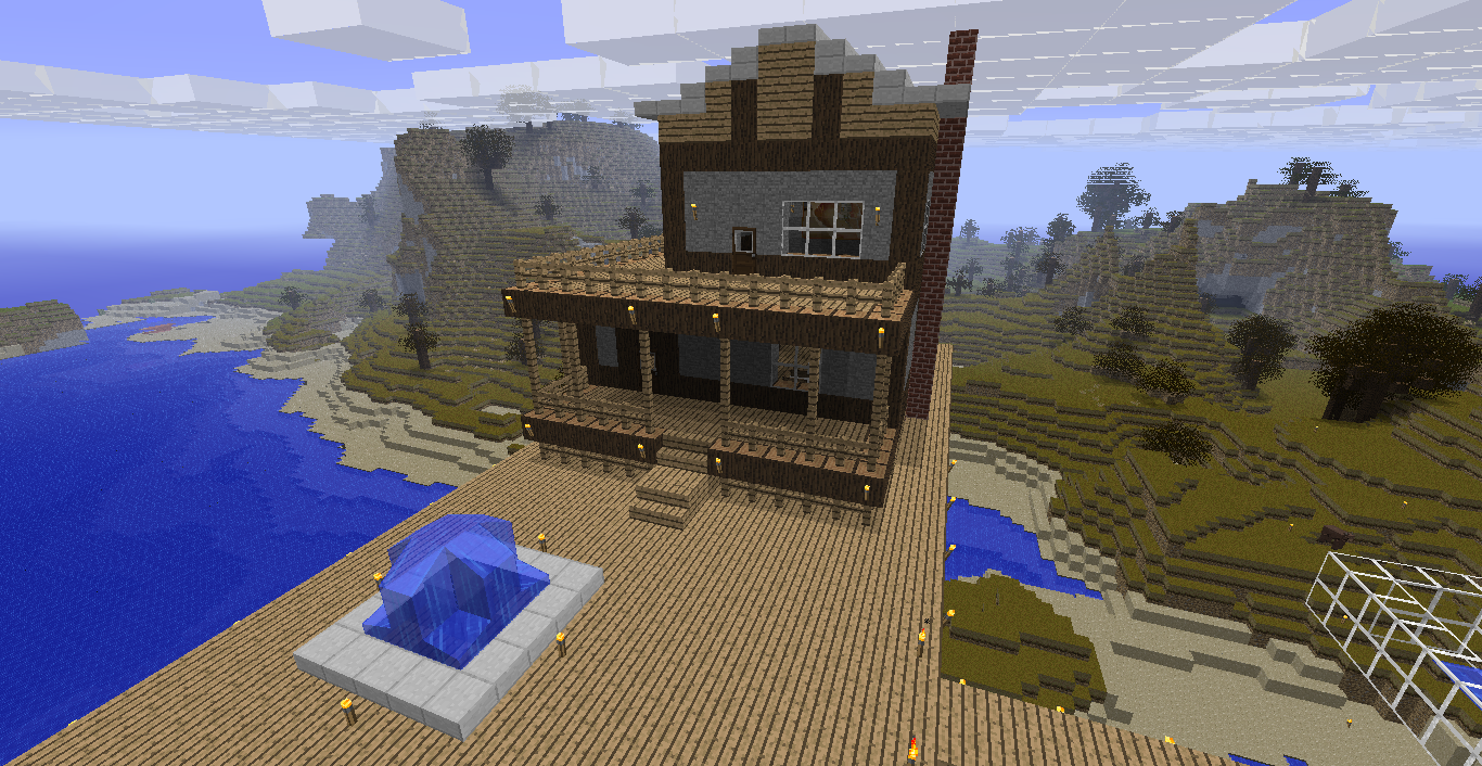 Cool House Designs Minecraft Minecraft House Glass The