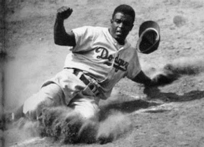 Jackie Robinson safe at home