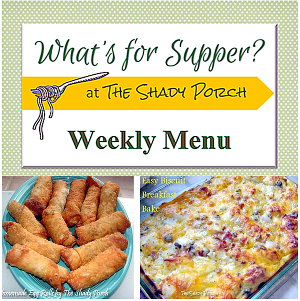 What's For Supper: Menu September 15, 2014