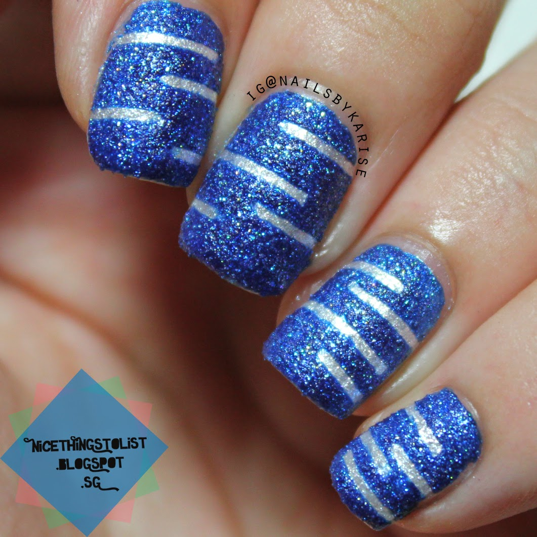 Textured Stripes Nail Art Nice Things To List