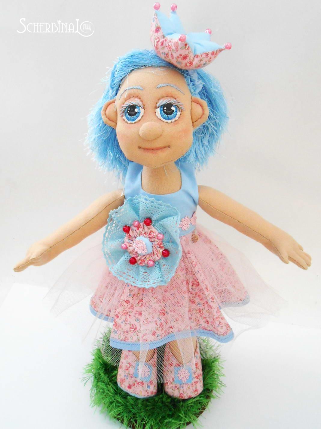 игровая текстильная кукла карамелька принцесса