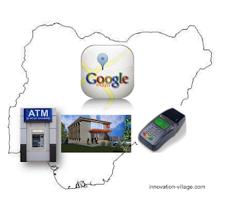 Locate bank branches on Google maps