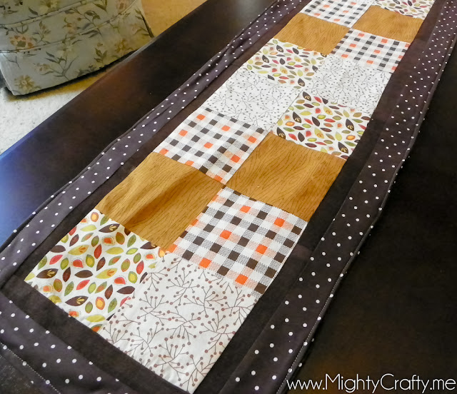 Quilted Fall Runner - www.MightyCrafty.me