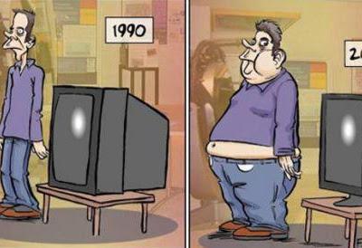 Una televisión grande que te cagas...