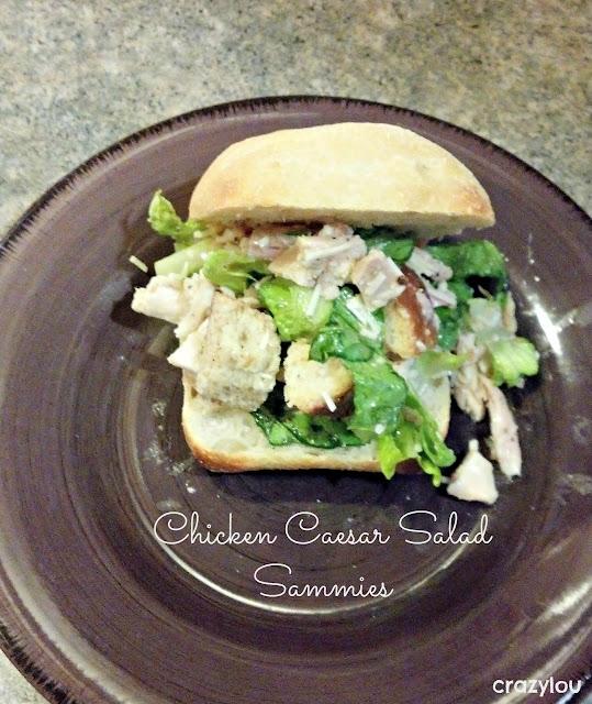 Chicken Caesar Salad Sandwhich