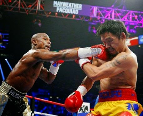 Undefeated Champion Floyd Mayweather wins Manny Pacquiao