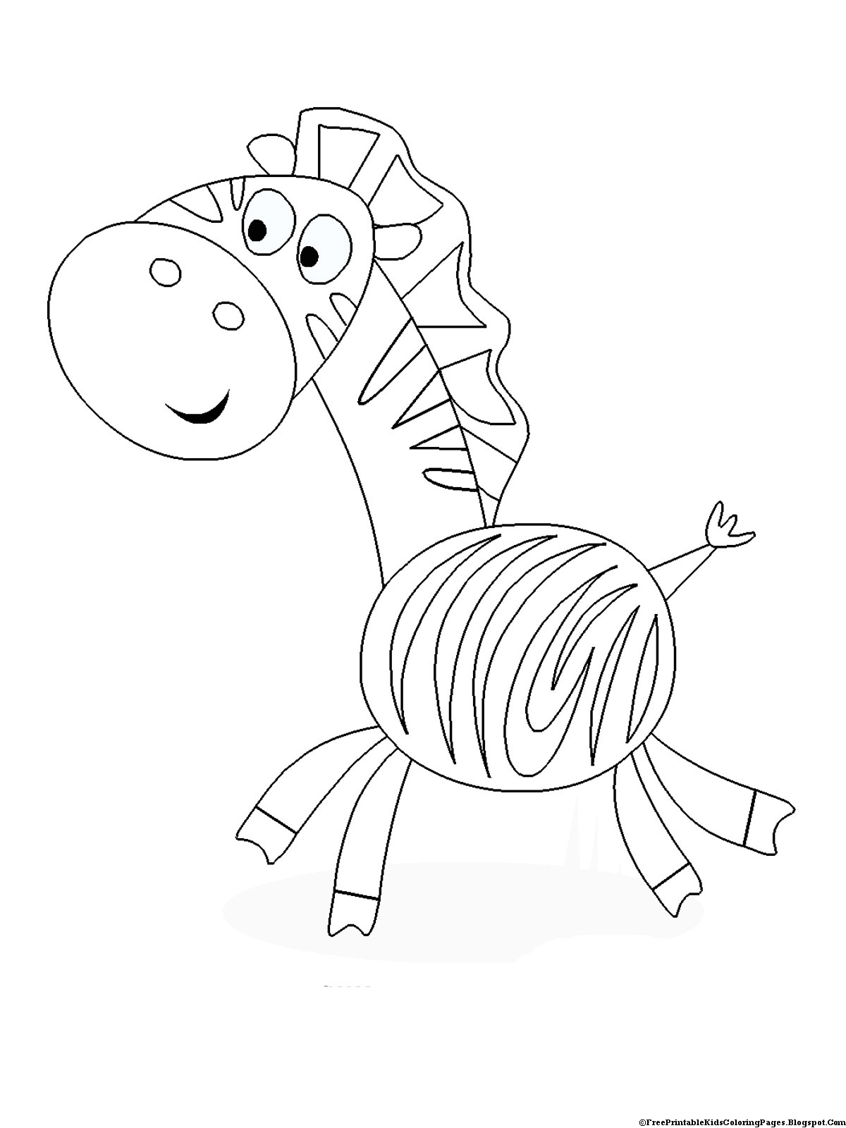 zebra coloring pages without stripes - photo #26