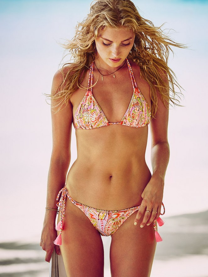 Elsa Hosk flaunts bikinis for VS December 2015 Lookbook
