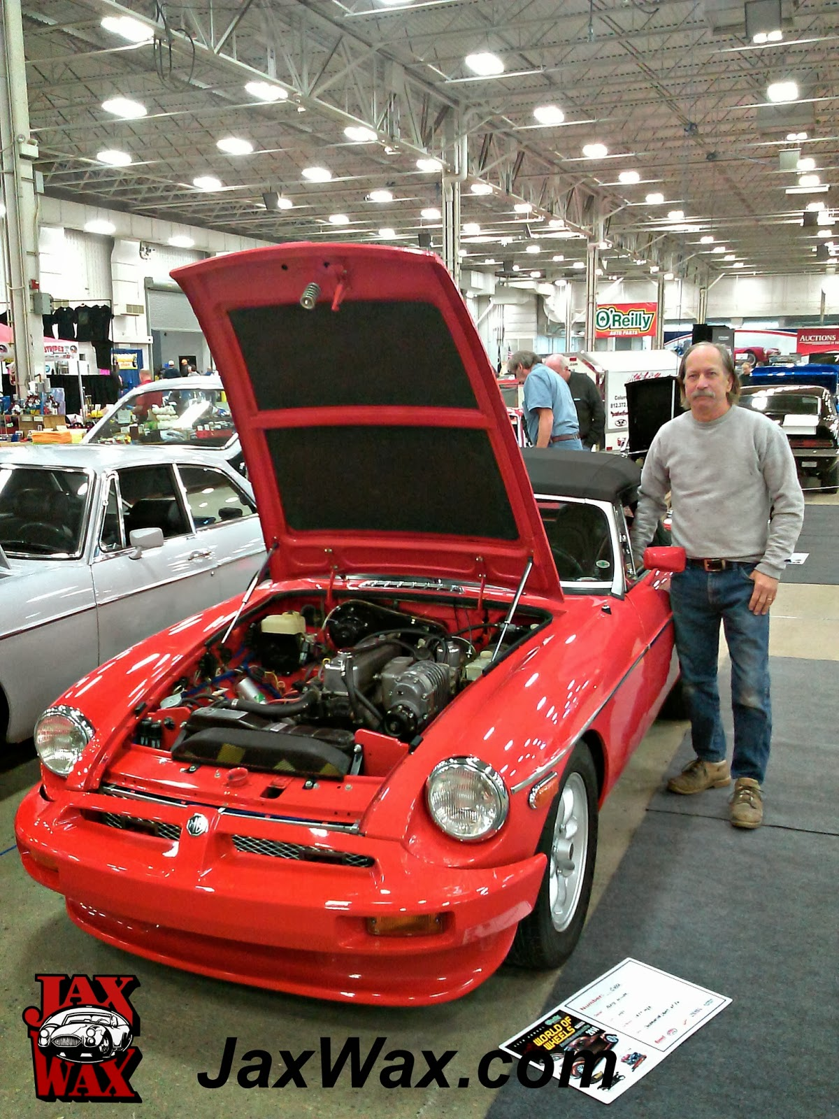 1977 MGB Indianapolis World of Wheels Jax Wax Customer