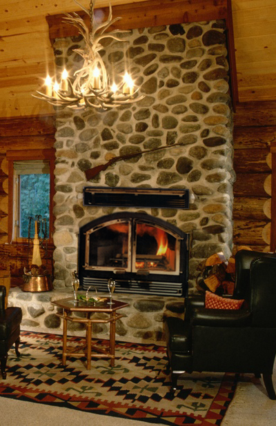 Hand-crafted fireplace design
