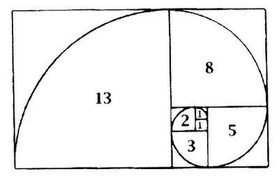 Espiral de Fibonacci + secuencia de números