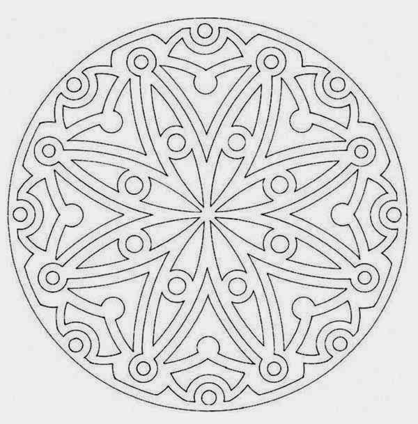 Free Mandala Flower Coloring Pages