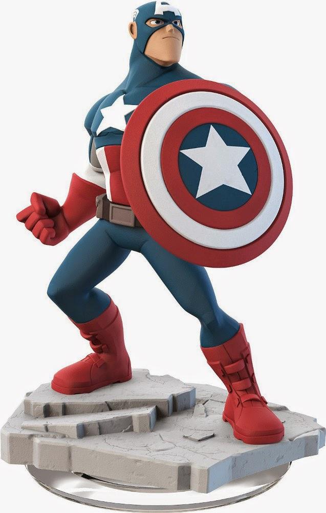 TOYS : JUGUETES - DISNEY Infinity 2.0  Figura Captain America : Capitán America  (Disney : Marvel - 19 Septiembre 2014)  Producto Oficial | Videojuegos | A partir de 7 años  PlayStation 4, Nintendo Wii U, PlayStation 3, Xbox 360, Xbox One