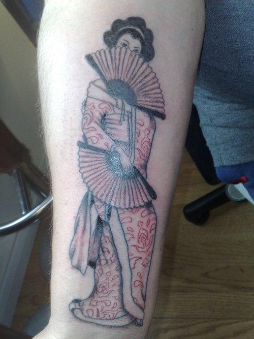 Japan tattoo geisha