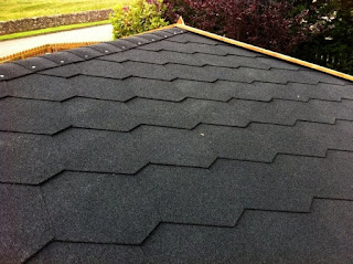 black bitumen roof tiles