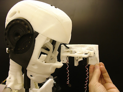 InMoov eye mechanism, side view