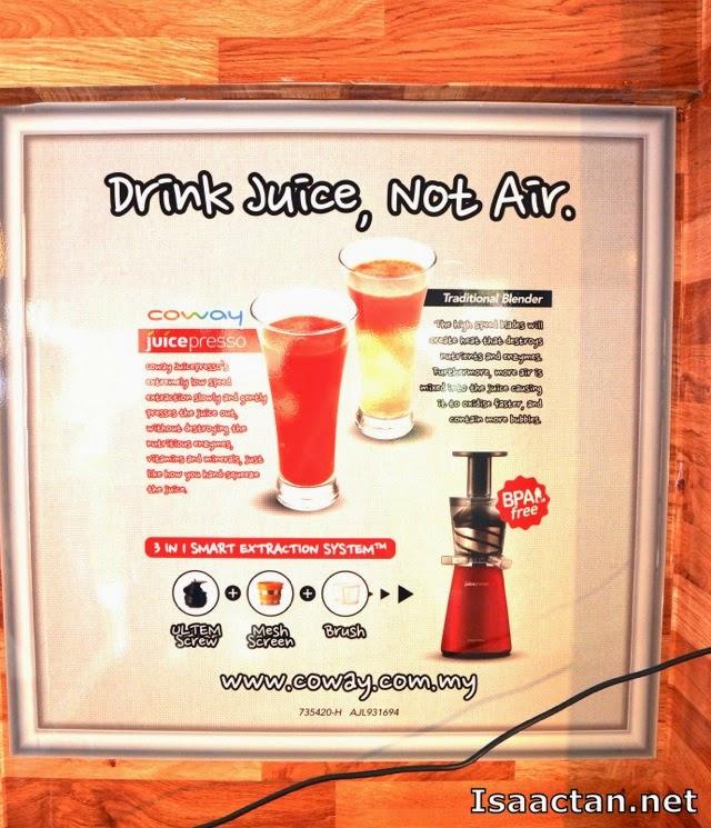 Drink Juice, Not Air