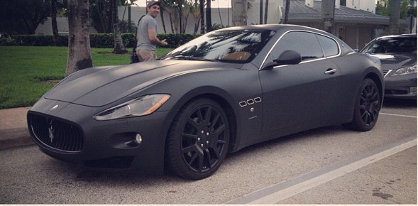 Car Daily Matte Black Maserati