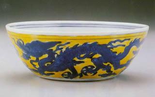 ming period dragon bowl