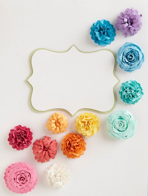 Take five paper flower crafts the cottage market oh these make me feel like a little kid again only these are much better than the millions of paper flowers i made out of any piece of paper i could get mightylinksfo