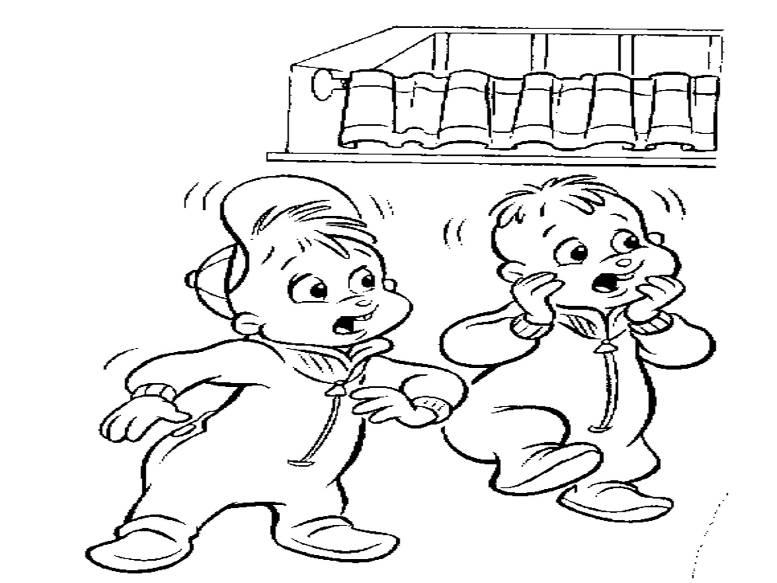 alvin and theodore chi - Theodore Chipmunk Coloring Pages