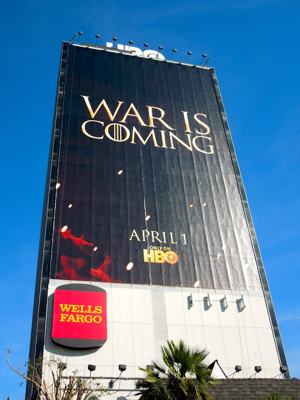 Giant Game of Thrones 2 billboard