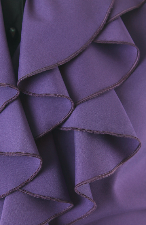 Ruffled Petal Two-tone Blouse – Royal Purple