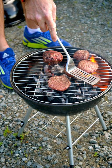 Cooking hamburgers