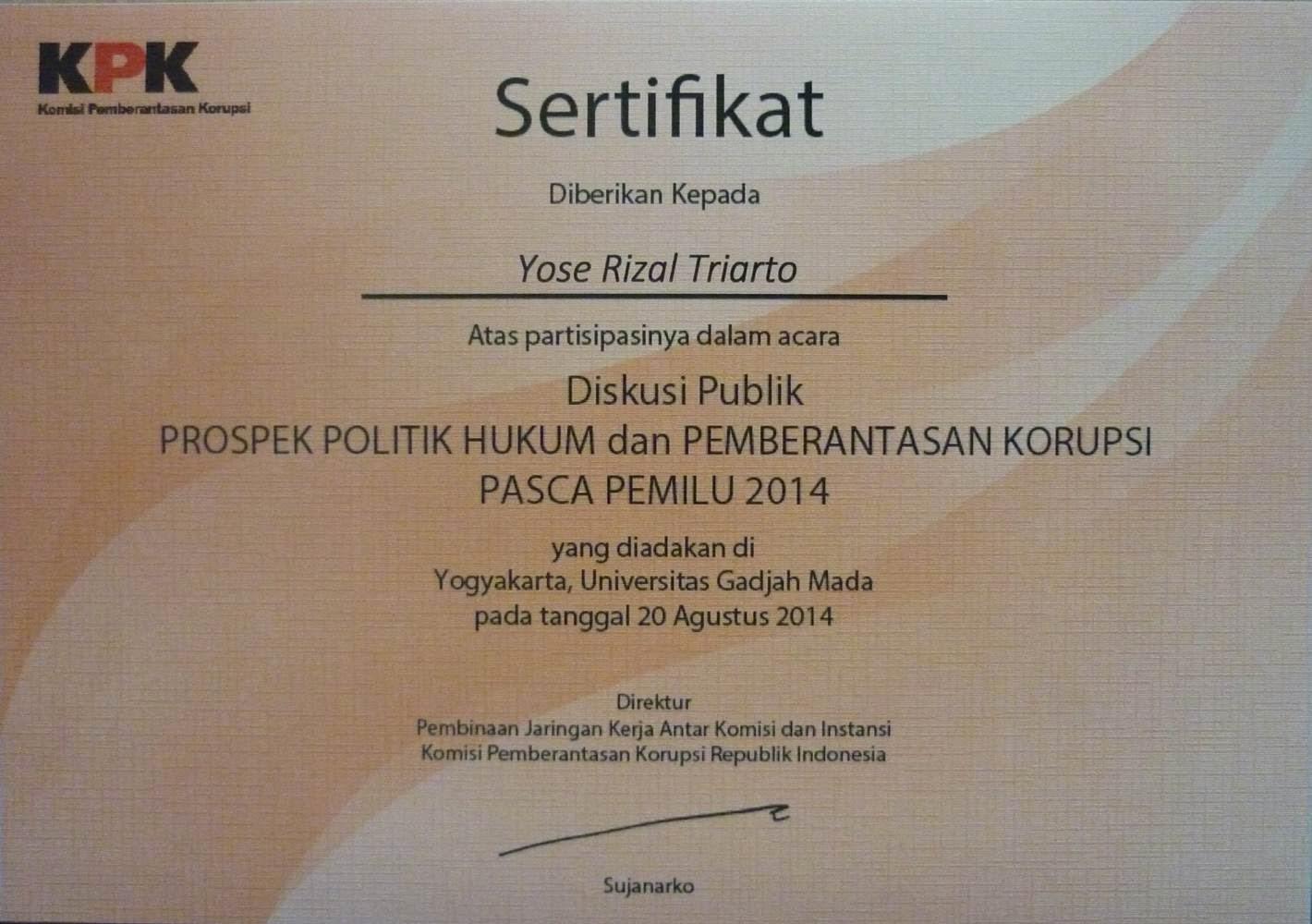 Diskusi Publik KPK-ICW-UGM