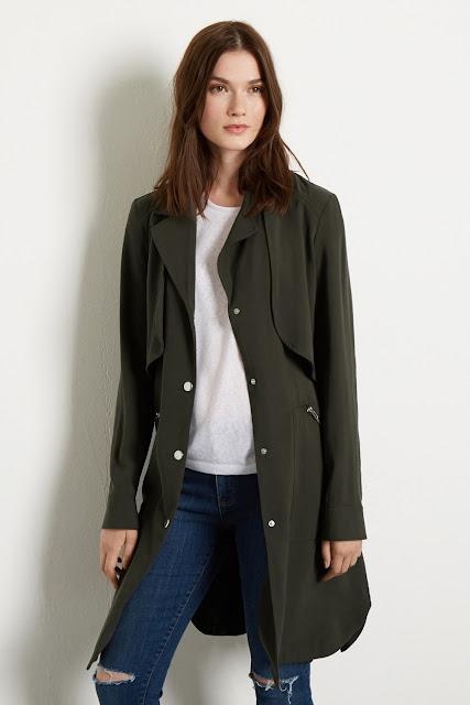 warehouse green coat, dark green coat, warehouse duster coat,