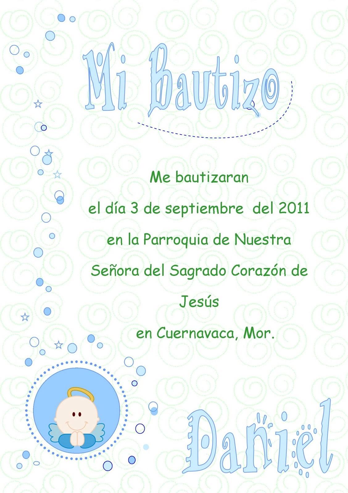Oraciones Para Invitaciones De Bautizo