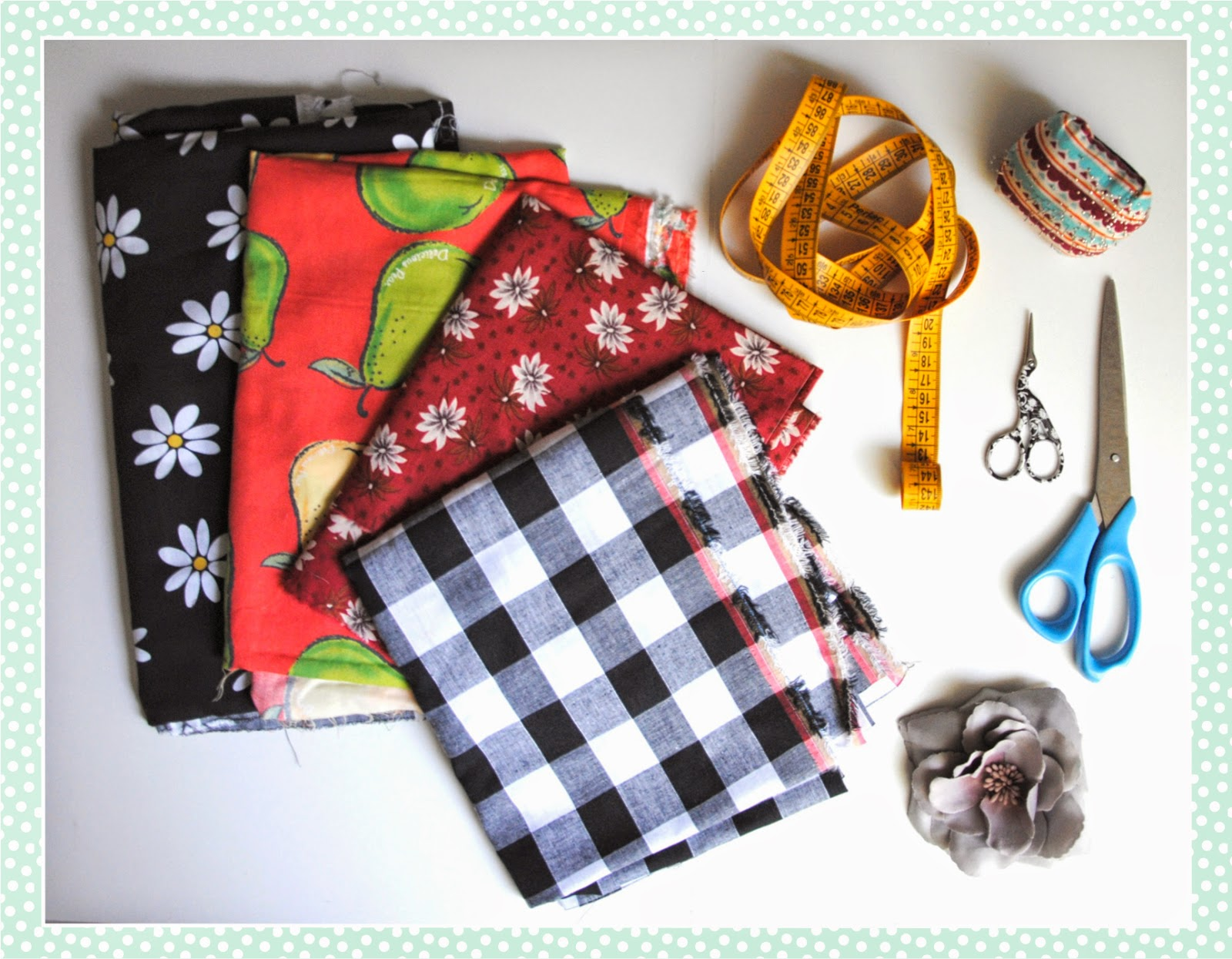 materiel pour collection couture