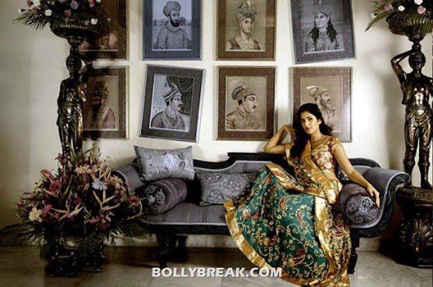 Katrina kaif as royal vintage princess - (2) - katrina kaif NeelAnjana Sarees Vintage Photoshoot Wallpapers