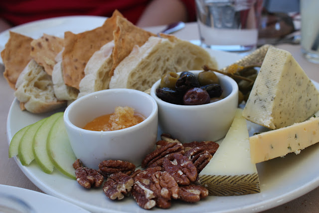 Three cheese platter at Ponte Family Estate Winery, Temecula, Calif.