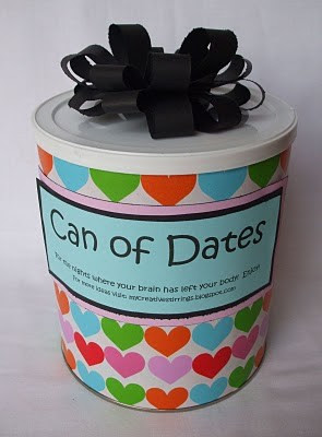 Wedding Gift A Year Of Dates : Can of Dates:
