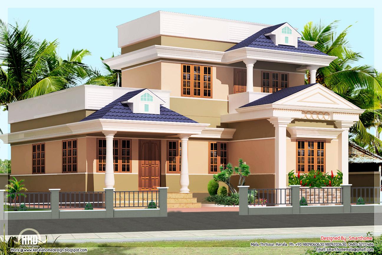 3 bedroom kerala villa elevation kerala home design for 3 bedroom kerala house plans