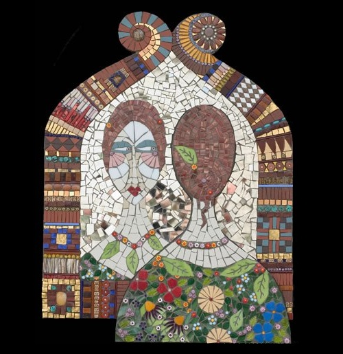 decorative mosaic paintings by Irina Charny