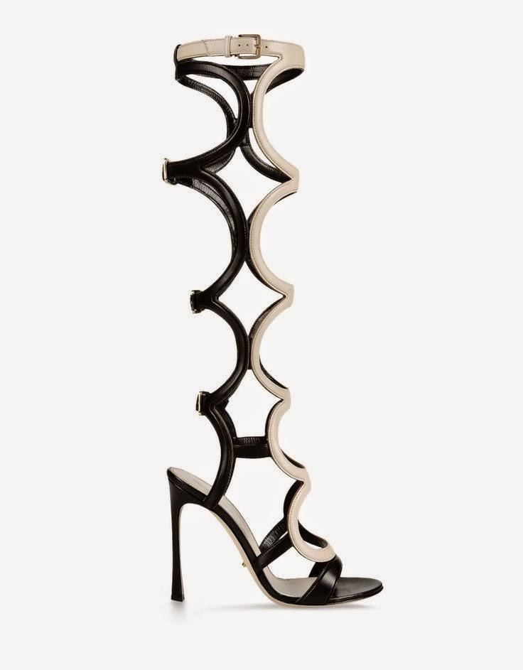 Sergio Rossi monochrome tall sandal
