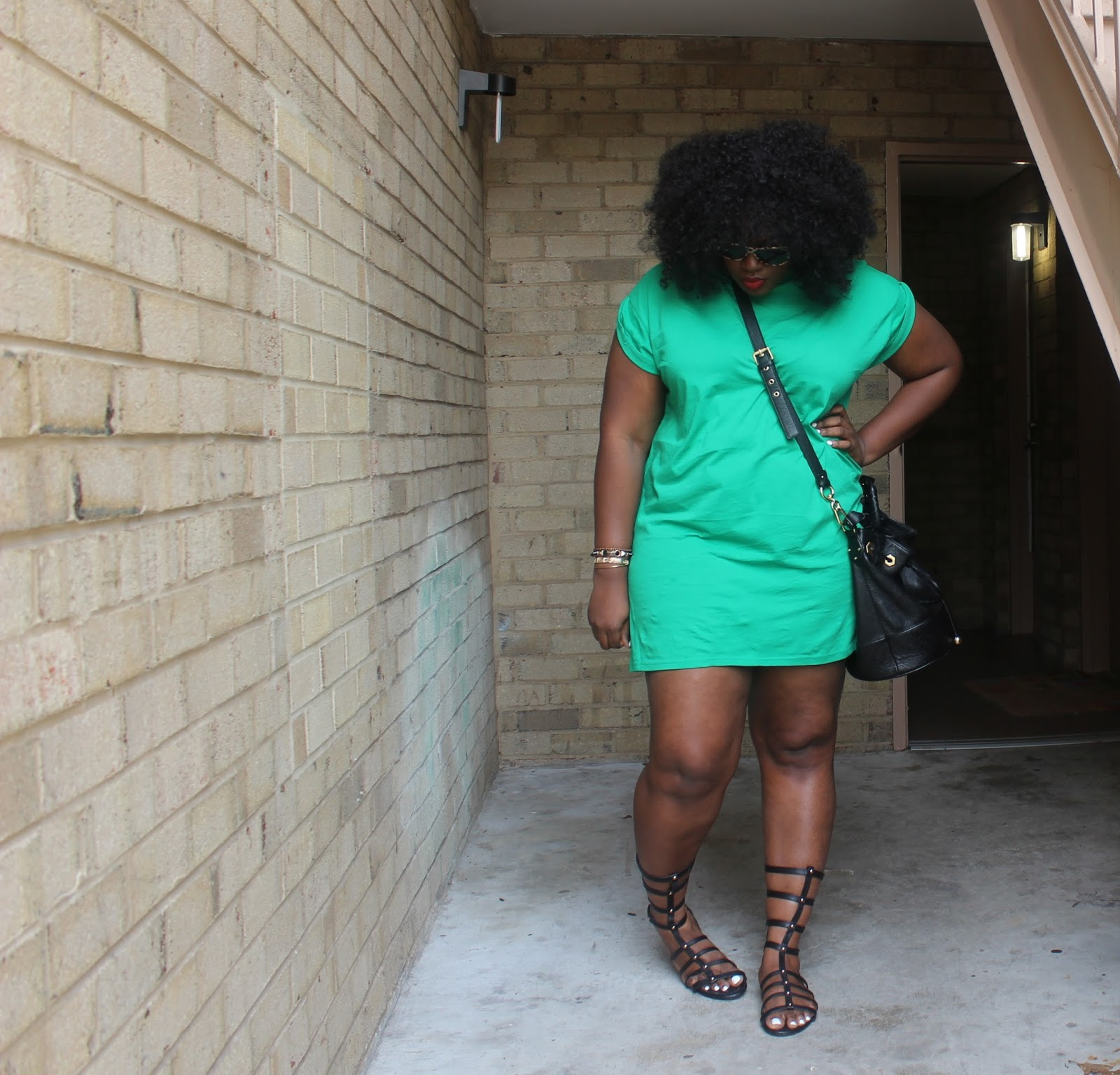 SUPPLECHIC: Boots in The Summer: Green T-shirt Dress and ...