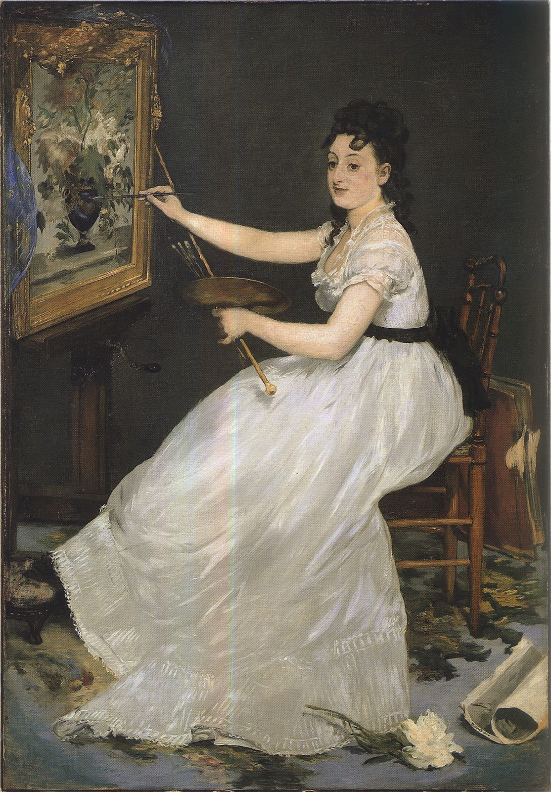 Bright moments ainsi naquit la libre femme peintre for Devant le miroir manet