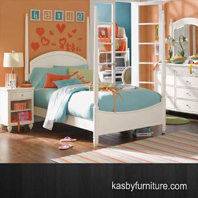 Set Bedroom Anak Kanopi Putih